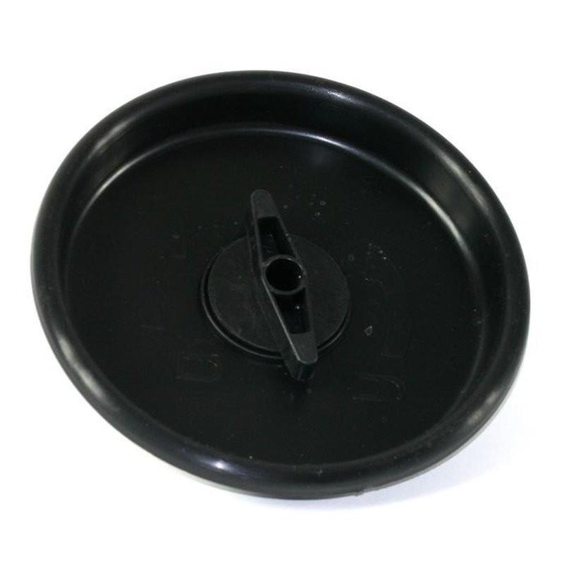 Fekete redős szűrő záró fedél